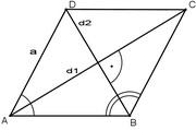 Pitagorina teorema Romb
